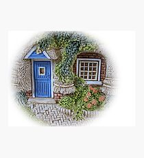 Miniature Cottage #2 Welcome Photographic Print
