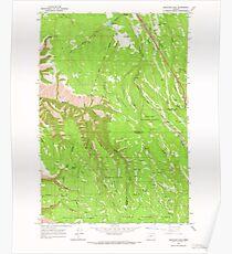 USGS Topo Map Oregon Meacham Lake 280703 1963 24000 Poster