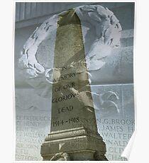 Verne, Cenotaph, Portland, Dorset, UK Poster