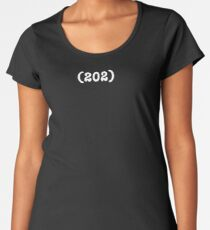Area Code 202 (for womens t-shirts) Premium Scoop T-Shirt
