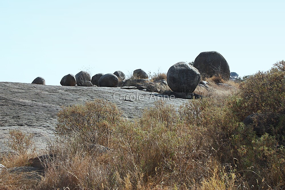 Nature's Game of Marbles, Kopjes in Serengeti National Park, Tanzania by Carole-Anne