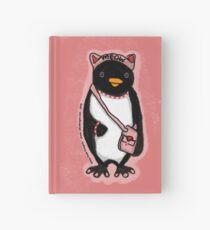 Pink Kitty Penguin Hardcover Journal