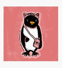 Pink Kitty Penguin Photographic Print