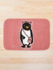Pink Kitty Penguin Bath Mat