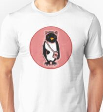 Pink Kitty Penguin Slim Fit T-Shirt