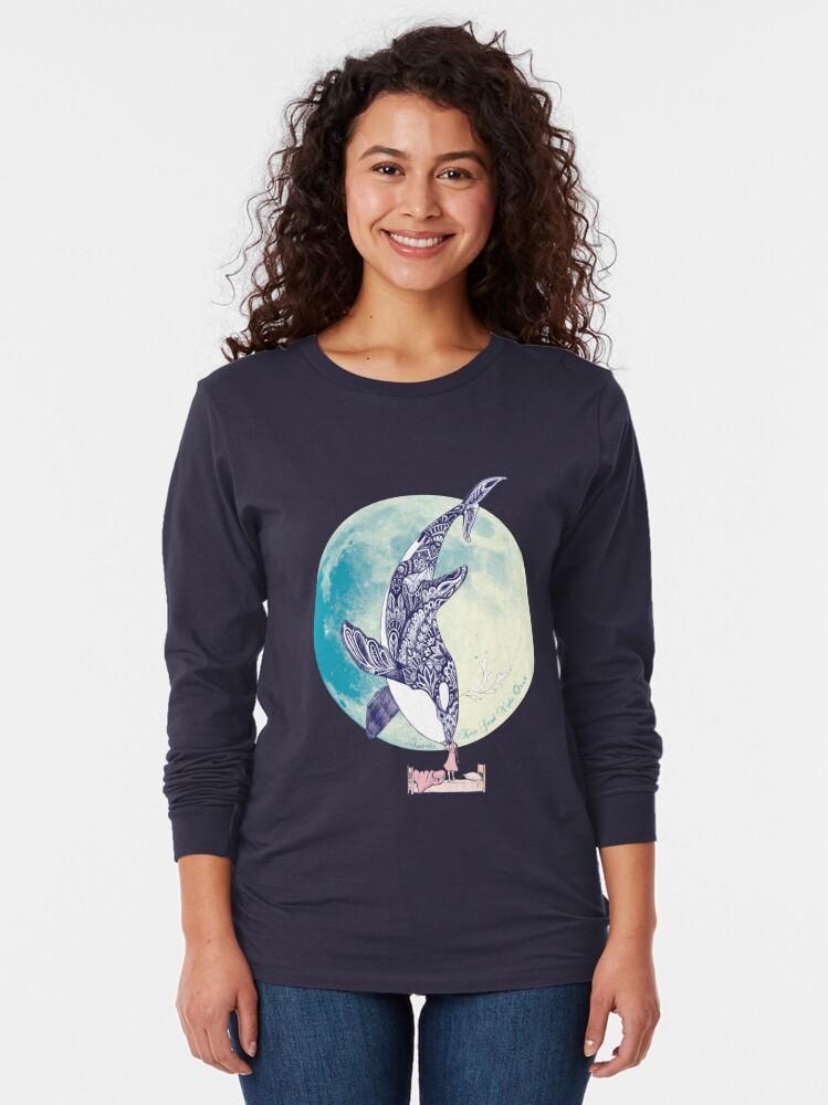 Alternate view of Kiss Good Night - Orca I Long Sleeve T-Shirt