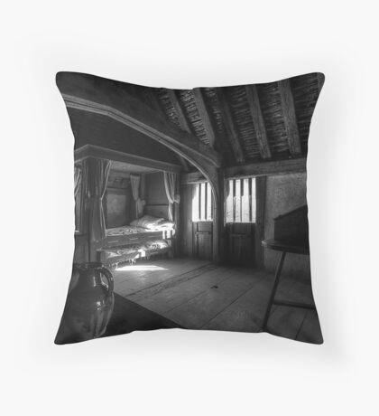 Bayleaf: Bedroom Interior Throw Pillow