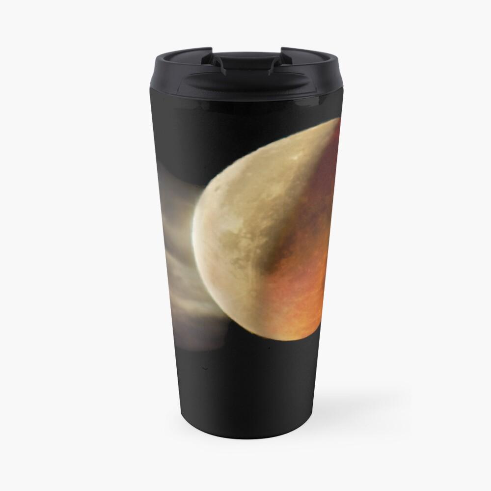 Lunar Eclipse with Cloud,  Travel Mug
