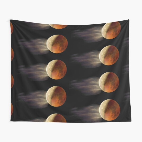 Lunar Eclipse with Cloud,  Tapestry