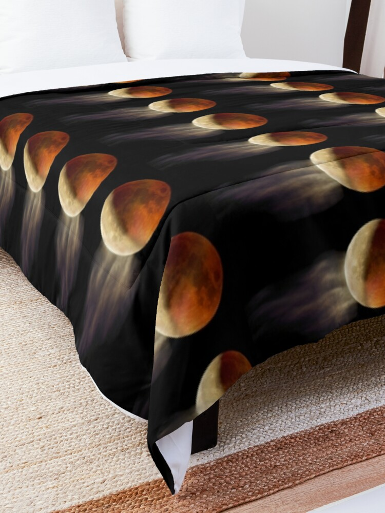 Alternate view of Lunar Eclipse with Cloud,  Comforter