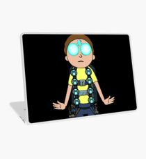 Morty hovering with Death Crystal Laptop Skin
