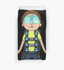 Morty hovering with Death Crystal Duvet Cover