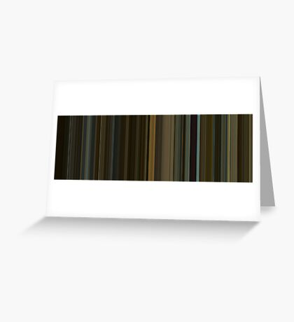 Moviebarcode: The Social Network (2010) [Simplified Colors] Greeting Card