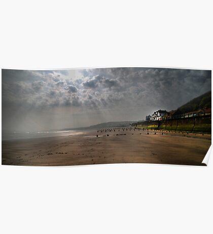 Sunrise at Sandsend  Poster