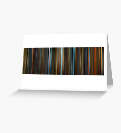 Moviebarcode: Legend of the Guardians: The Owls of Ga'Hoole (2010) Greeting Card