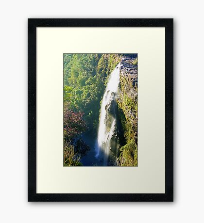 Waterfalls, South Africa Framed Print