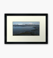 Bar Beach Rocks Framed Print