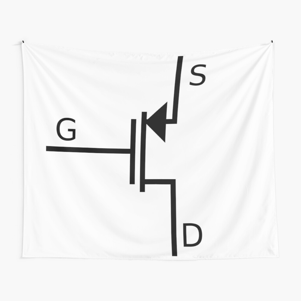 Mosfet symbol, #mosfet, #symbol, #MosfetSymbol, #SymboleMosfet Wall Tapestry
