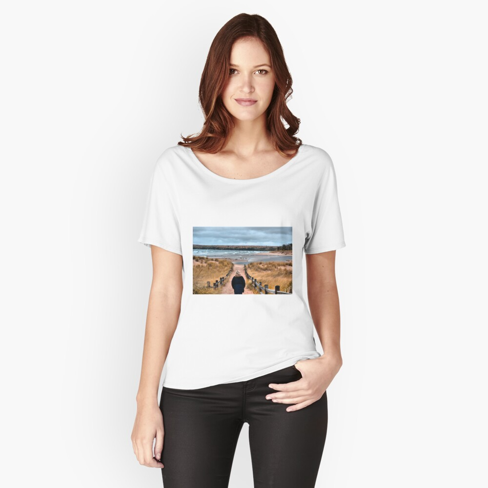 A Walk to the Water Women's Relaxed Fit T-Shirt Front