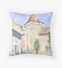 Le Vieux Château, Varaignes, France Throw Pillow