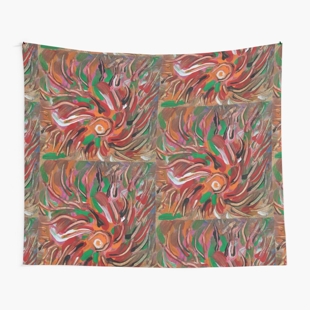 flaming vortex abstract Wall Tapestry