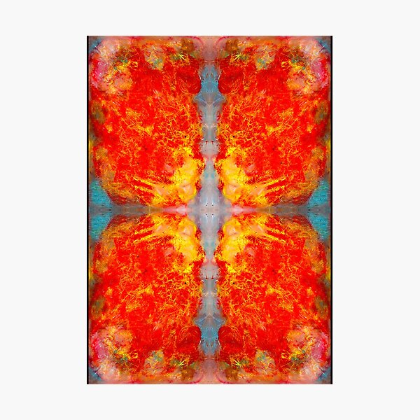 oil pastel abstract digital pattern decided Photographic Print