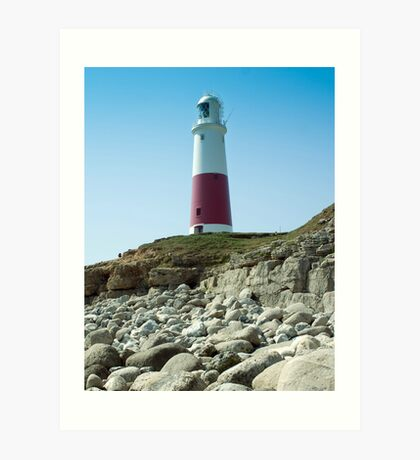 Portland Lighthouse, Dorset Art Print