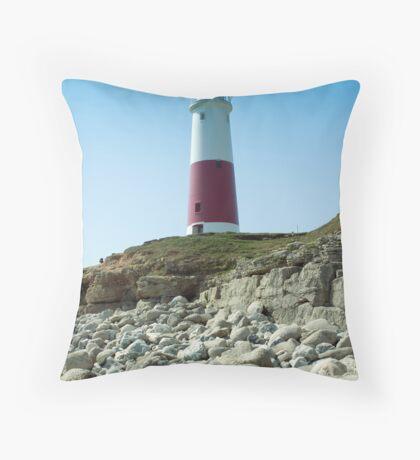 Portland Lighthouse, Dorset Throw Pillow