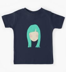 Girl With Fringe In Blue Kids Tee