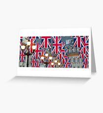 London. Regent Street. Royal Wedding Flags. (Alan Copson ©) Greeting Card