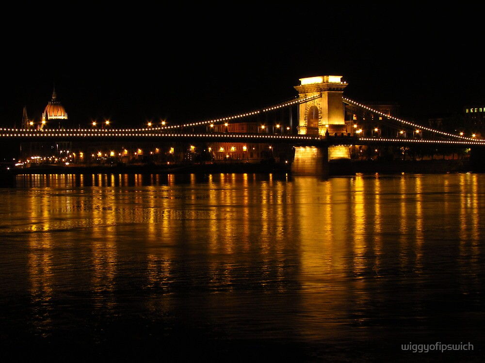 Chain Bridge & Houses Of Parliament by wiggyofipswich