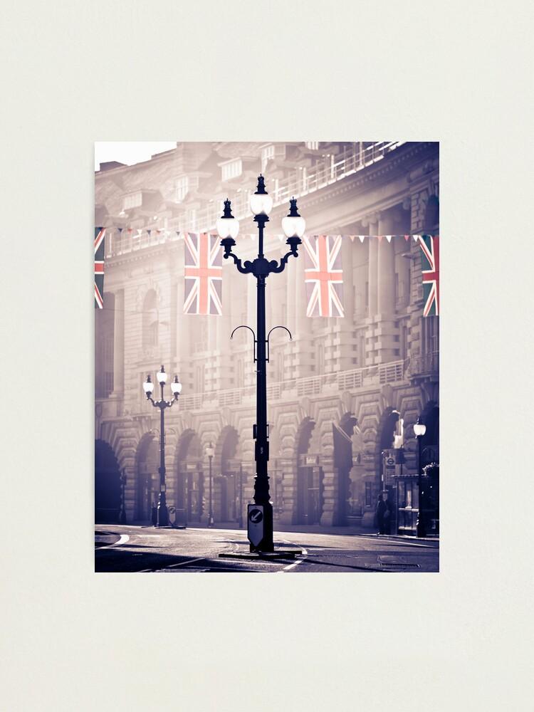 Alternate view of London. Regent Street. Royal Wedding Flags. Photographic Print