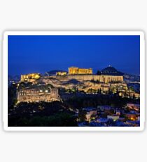 The Sacred Rock of Acropolis Sticker