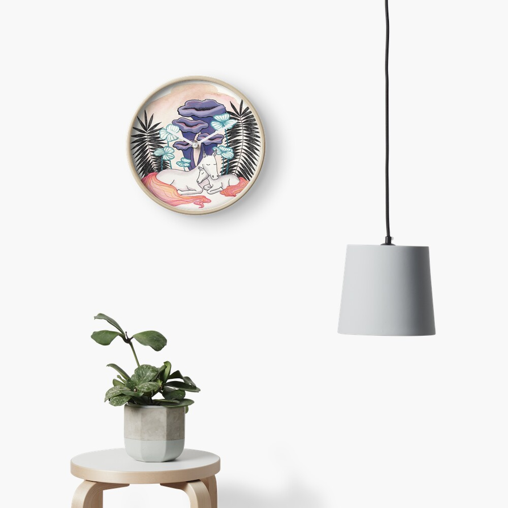 Mother and daughter Clock