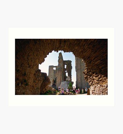 Corfe Castle Arch Art Print