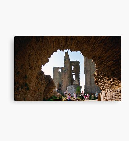 Corfe Castle Arch Canvas Print