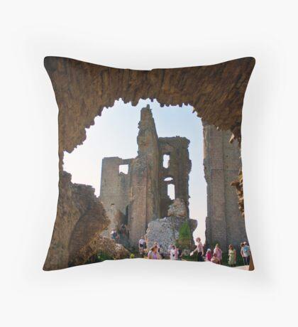 Corfe Castle Arch Throw Pillow