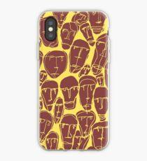 Caras amarillas iPhone Case