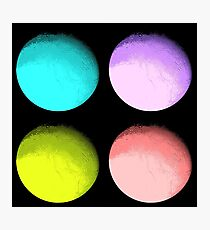 Four Colored Moons Photographic Print