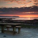 Picnic Table Sunset by kernuak