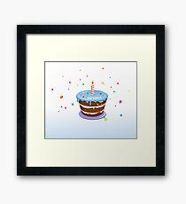 Colorful, chocolate birthday cake  Framed Print
