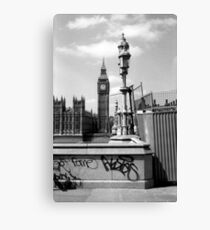 Fame... - Westminster London b&w Canvas Print