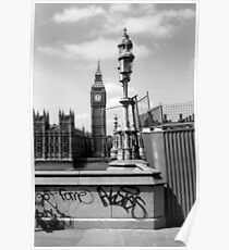 Fame... - Westminster London b&w Poster