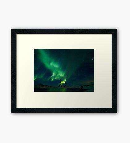 Aurora Volcano in Hvalfjordur Framed Print