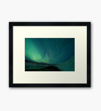 Green Sky over Hvalfjordur Framed Print
