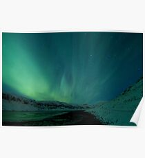 Green Sky over Hvalfjordur Poster