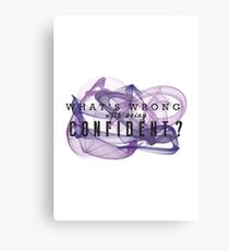 Confident Canvas Print & Demi Lovato Lyrics: Wall Art | Redbubble
