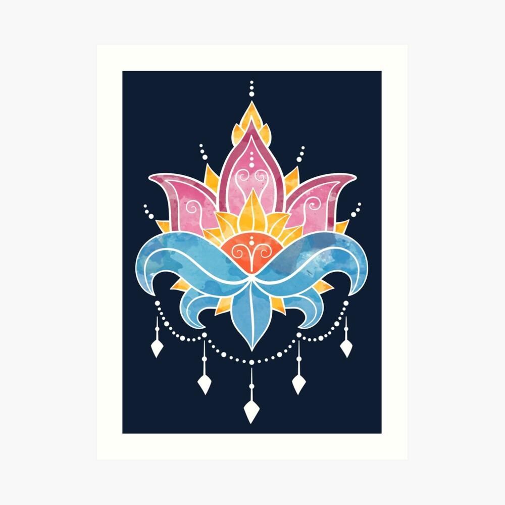 Water Lily, Seerose Kunstdruck