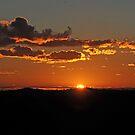 Sunrise Bald Hill, Hill End NSW Australia by Bev Woodman