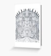 Barad-Dur Gate Study Greeting Card